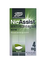 Boots Pharmaceuticals NicAssist Minty Fresh 4mg Gum  - 105 Pieces