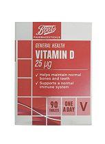 Boots Vitamin D 25µg (90 Tablets)