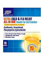 Boots Flu-Max All-in-One Chesty Cough & Cold Powder For Oral Solution - 10 Sachets
