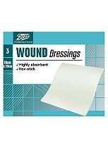 Boots Pharmaceuticals Wound Dressing Pads 10cm x 10cm (Pack of 3)