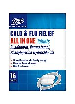 Boots Cold & Flu relief All in One (16 Tablets)