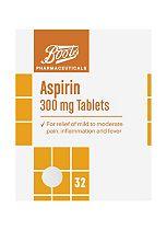 Boots Aspirin 300mg Tablets - 32 Tablets