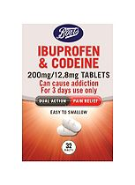 Boots Ibuprofen and Codeine 200 mg/12.8 mg Tablets - 32 Tablets