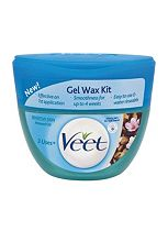 Veet Gel Wax Kit Sensitive Skin Almond Oil 250ml