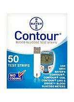 Bayer Contour Blood Glucose Test Strips (50 Test Strips)