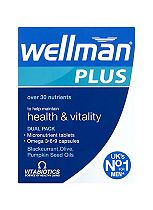 Vitabiotics Wellman Plus Omega 3, 6 & 9 56 Tablets/Capsules