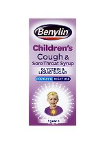 Benylin Children's Cough and Sore Throat Syrup 1Year +  -125ml