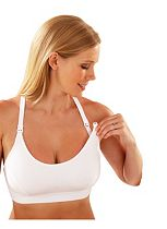 Emma Jane Sleeping Bra - White