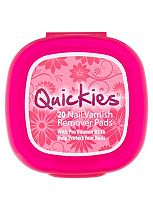 New Formulation Quickies Nail Varnish Remover Pads - 20's