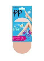 Pretty Polly Fresh Footsies Natural 2 Pair Pack