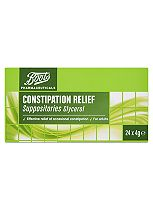 Boots  Constipation Relief Suppositories (24 x 4g)