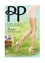 Pretty Polly 8 Denier Naturals Secret Slimmer Tights 1 Pair Pack