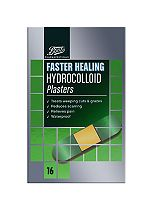 Boots Pharmaceuticals Faster Healing Hydrocolloid Plaster (Pack of 16)