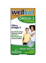 Vitabiotics WellKid Omega-3 soft burst Chewable Capsules - 60 Lemon Flavour Capsules