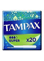 Tampax Cardboard Applicator Super 20 Tampons