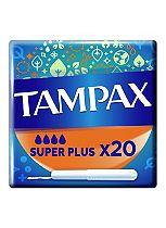 Tampax Cardboard Applicator Super Plus 20 Tampons