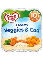 Cow & Gate Little Steamed Meals Creamy Vegetables & Cod from 10m Onwards 230g