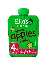 Ella's Kitchen Apples Apples Apples Super Smooth Puree Stage 1 from 4 Months 70g