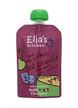 Ella's Kitchen Organic Ooh My Goodness Oat Crumble With Apples, Raisins + Custard Pouch - 1 x 80g