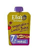 Ella's Kitchen Very, Very Tasty Vegetable Bake with Lentils Stage 2 from 7 Months 130g