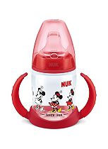 NUK First Choice Mickey and Minnie Learner Bottle in Red Silicone Non-Spill Spout