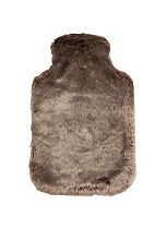 Hot Water Bottle Chocolate Faux Fur