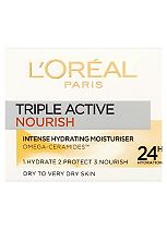 L'Oréal Paris Triple Active Nourish Intense Hydrating Moisturiser Dry to Very Dry Skin 50ml