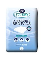 Boots Pharmaceuticals Staydry disposable bed pad  - 12 bed pads