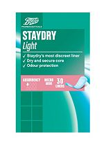 Boots Pharmaceuticals Staydry Light Liners - 30 Micro Mini Liners