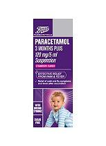 Boots Paracetamol 3 Months Plus 120mg/5ml Suspension (100ml)