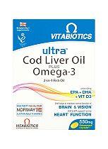 Ultra Cod Liver Oil plus Omega-3 - 60 capsules