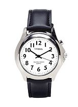 Homecraft Talking Watch with Steel Finish Leather Strap - Ladies
