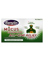Benylin Mucus Cough & Cold All in One Relief Tablets- 16 tablets