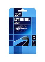 Boots Pharmaceuticals Leather Heel Liners One Size (1 Pair unisex)