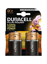 Duracell Power Plus D battery 2 pack