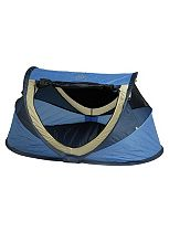 NSA UV Deluxe Travel Cot with Mattress - Blue