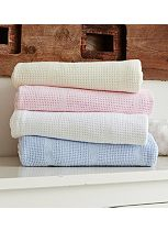 Clair de Lune Cellular Blanket For Cot Bed White Single Pack - 100 x 150cm