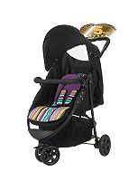 OBaby  Tour 3 Wheel Pushchair - Purple Stripe