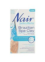 Nair Brazilian Spa Clay Body Wax Strips 20s