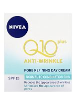 Nivea Daily Essentials Q10 Plus Anti-Wrinkle Pore Refining Day Cream For Normal to Combination Skin SPF15 50ml
