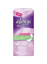 Always Dailies 20 Incredibly Thin Scented Discreet Pantyliners