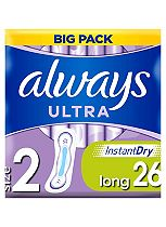 Always Ultra Sanitary Towels Long without Wings 26 pads