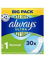 Always Ultra Sanitary Towels Normal without Wings 30 pads