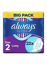 Always Ultra Sanitary Towels Long Plus with Wings 22 pads