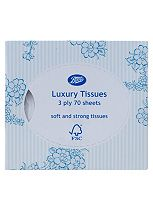 Boots Luxury soft and Strong Tissues cube- 3 ply 70 sheets
