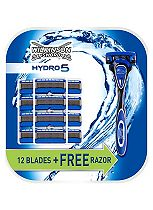 Wilkinson Sword Hydro 5 Razor + 12 Blades Value Pack
