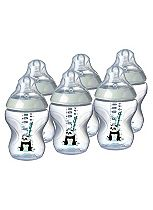 Tommee Tippee Closer To Nature Pink Feeding Bottle - 6 Pack