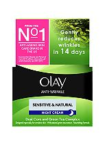 Olay Anti-Wrinkle Sensitive & Natural Gentle Moisturiser Night Cream 50ml