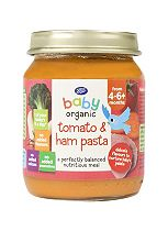 Boots Baby Organic Tomato & Ham Pasta Stage 1 4-6months+ 125g