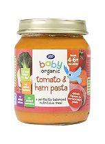 Boots Baby Organic Tomato & Ham Pasta Stage 1 4-6months+ 125g